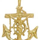 Jesus on Anchor Nautical Pendant