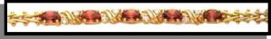 January Garnet Russian CZ Birthstone Bracelet BSA-1