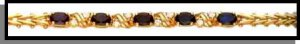 September Sapphire Russian CZ Birthstone Bracelet BSA-9