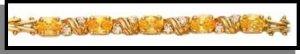 November Yellow Topaz Russian CZ Birthstone Bracelet BSA-11