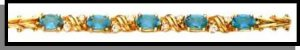 December Blue Topaz Russian CZ Birthstone Bracelet BSA -12