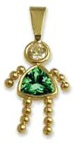 ·May Girl Birthstone Baby Kids With Emerald CZ Gold CZ-9
