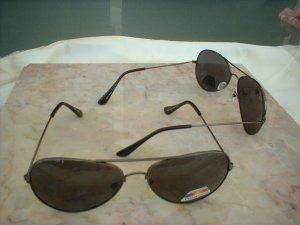 Classic Aviator Polarized Sunglasses Gunmetal Grey Frames Smoke Lenses