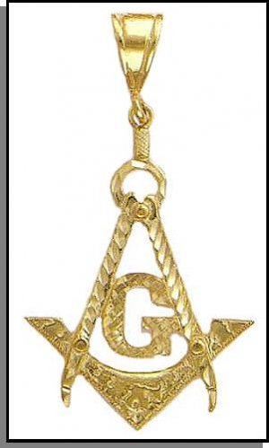 King Sized Gold layered Freemason Masonic Pendant