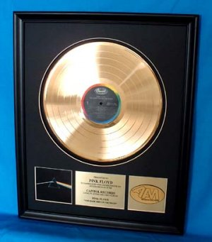 """PINK FLOYD GOLD RECORD AWARD """"DARK SIDE OF THE MOON"""""""