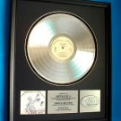 "METALLICA PLATINUM RECORD AWARD ""JUSTICE FOR ALL"""