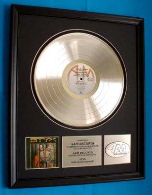 "STYX PLATINUM RECORD AWARD ""GRAND ILLUSION"""