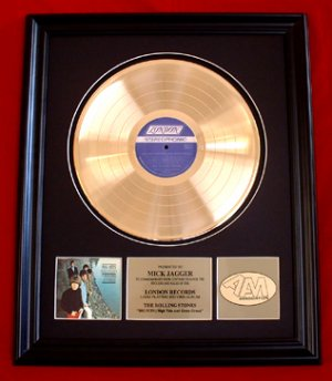 "ROLLING STONES GOLD RECORD AWARD ""HIGH TIDE AND GREEN GRASS"""