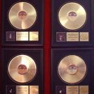 KISS GOLD RECORD AWARD (ACE, GENE, PAUL & PETER) 4 AWARDS