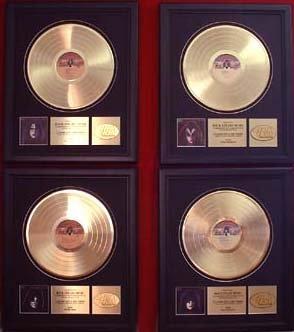 KISS GOLD RECORD AWARD (ACE, GENE, PAUL & PETER) 4 AWARDS
