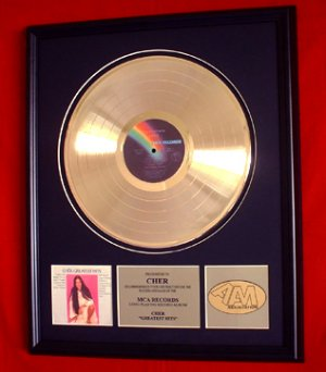 CHER GOLD RECORD AWARD - GREAATEST HITS
