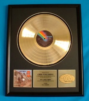 "CHER GOLD RECORD AWARD ""HALF BREED"""
