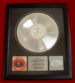"SAMMY HAGAR PLATINUM RECORD AWARD ""THREE LOCK BOX"""