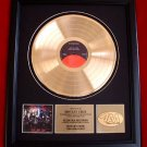 "MOTLEY CRUE GOLD RECORD AWARD ""GIRLS, GIRLS, GIRLS"""