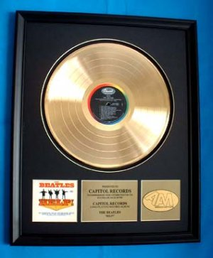 "THE BEATLES GOLD RECORD AWARD ""HELP!"""