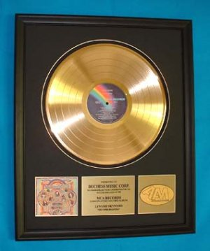 "LYNYRD SKYNYRD GOLD RECORD AWARD ""SECOND HELPING"""