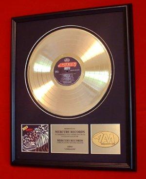 "KISS GOLD RECORD AWARD ""ANIMALIZE"""