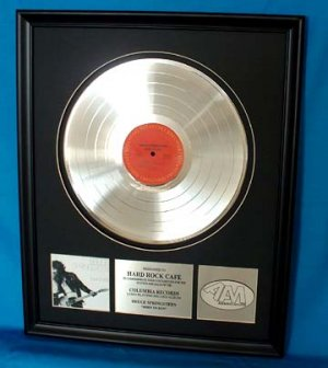 "BRUCE SPRINGSTEEN PLATINUM RECORD AWARD "" BORN TO RUN"""