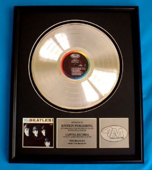 "THE BEATLES PLATINUM RECORD AWARD ""MEET THE BEATLES"""