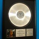 "KIM CARNES PLATINUM RECORD AWARD ""MISTAKEN IDENTITY"""