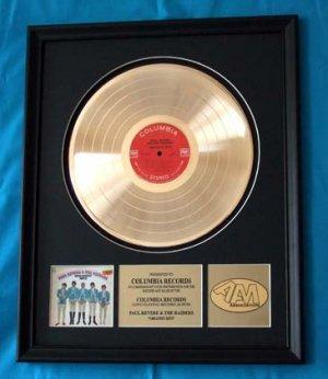 PAUL REVERE & THE RAIDERS GOLD RECORD AWARD