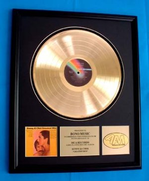 "SONNY & CHER GOLD RECORD AWARD ""GREATEST HITS"""