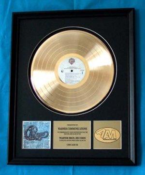 CHICAGO 18 GOLD RECORD AWARD