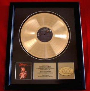 "WAYLON JENNINGS GOLD RECORD AWARD ""ALWAYS BEEN CRAZY"""