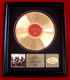 """QUEEN GOLD RECORD AWARD """"THE WORKS"""""""