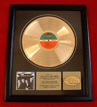 CROSBY, STILLS, NASH & YOUNG GOLD RECORD AWARD
