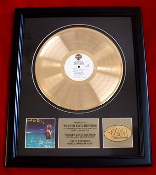 "DAVID LEE ROTH GOLD RECORD AWARD ""CRAZY FROM THE HEAT"""