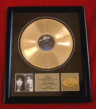 "HEART GOLD RECORD AWARD ""BEBE LE STRANGE"""