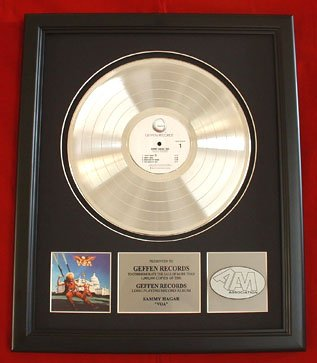"""SAMMY HAGAR PLATINUM RECORD AWARD """"VOA"""""""