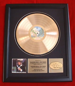 """ROD STEWART GOLD RECORD AWARD """"NIGHT ON THE TOWN"""""""