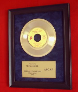 MICK JAGGER - ROLLING STONES GOLD RECORD AWARD