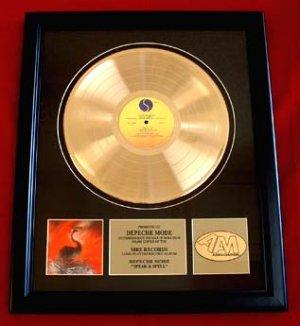 """DEPECHE MODE GOLD RECORD AWARD - """"SPEAK AND SPELL"""""""