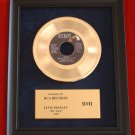 "ELVIS PRESLEY VINTAGE GOLD 45 RECORD AWARD ""MY WAY"""