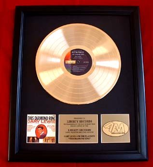 GARY LEWIS & THE PLAYBOYS GOLD RECORD AWARD - VINTAGE