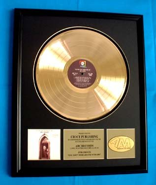 JIM CROCE GOLD RECORD AWARD
