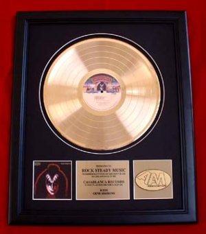 GENE SIMMONS (KISS) SOLO GOLD RECORD AWARD