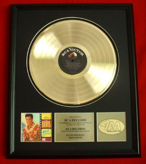 "ELVIS PRESLEY GOLD RECORD AWARD ""BLUE HAWAII"""