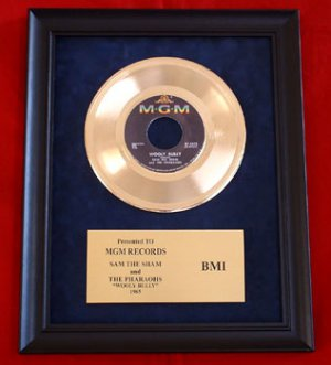 "SAM THE SHAM AND THE PHARAOHS GOLD RECORD AWARD ""WOOLY BULLY"""