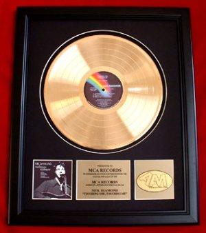 "NEIL DIAMOND GOLD RECORD AWARD ""TOUCHING YOU, TOUCHING ME"""