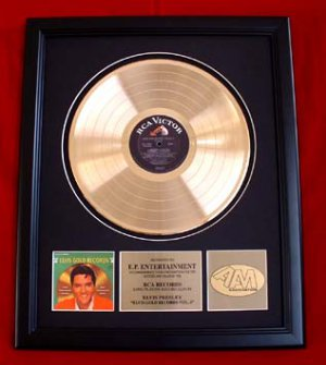 "ELVIS PRESLEY GOLD RECORD AWARD ""VOLUME 4"""