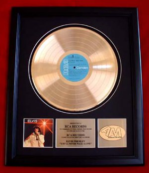 "ELVIS PRESLEY GOLD RECORD AWARD ""YOU'LL NEVER WALK ALONE"""