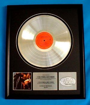 "GEORGE MICHAEL PLATINUM RECORD AWARD ""FAITH"""