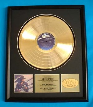 "STEVIE RAY VAUGHAN GOLD RECORD AWARD ""TEXAS FLOOD"""
