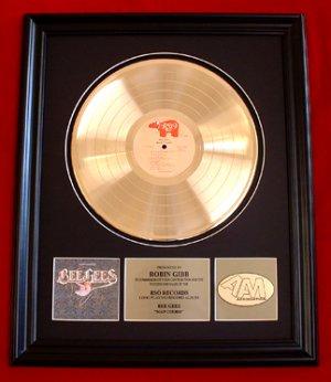 "ROBIN GIBB - THE BEE GEES GOLD RECORD AWARD ""MAIN COURSE"""