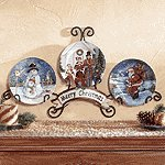 Christmas Plate Display Set