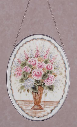 Hand Painted Flower Bouquet Suncatcher